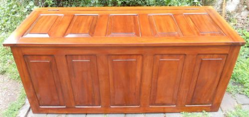 Large Mahogany Panelled Blanket Box